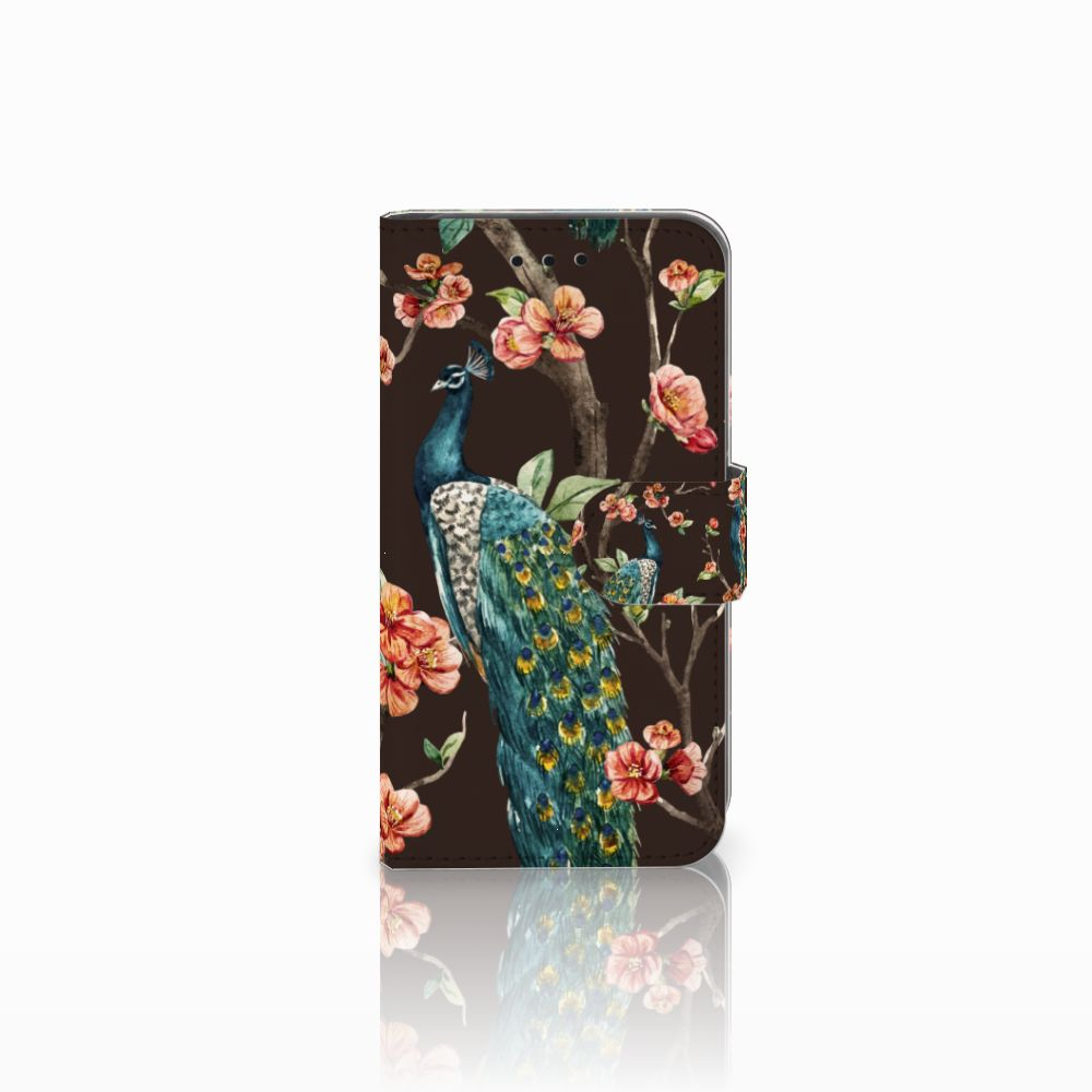 Microsoft Lumia 550 Boekhoesje Design Pauw met Bloemen