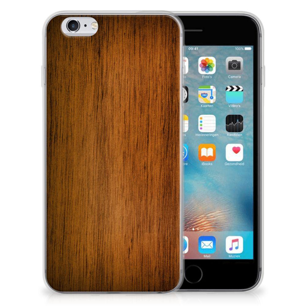 Apple iPhone 6 | 6s Uniek TPU Hoesje Donker Hout