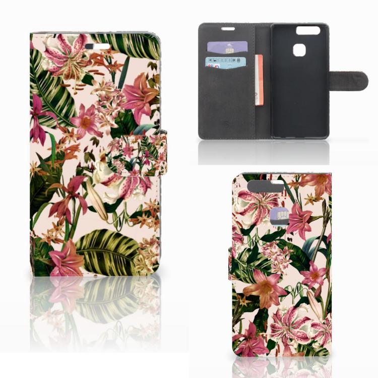 Huawei P9 Plus Hoesje Flowers