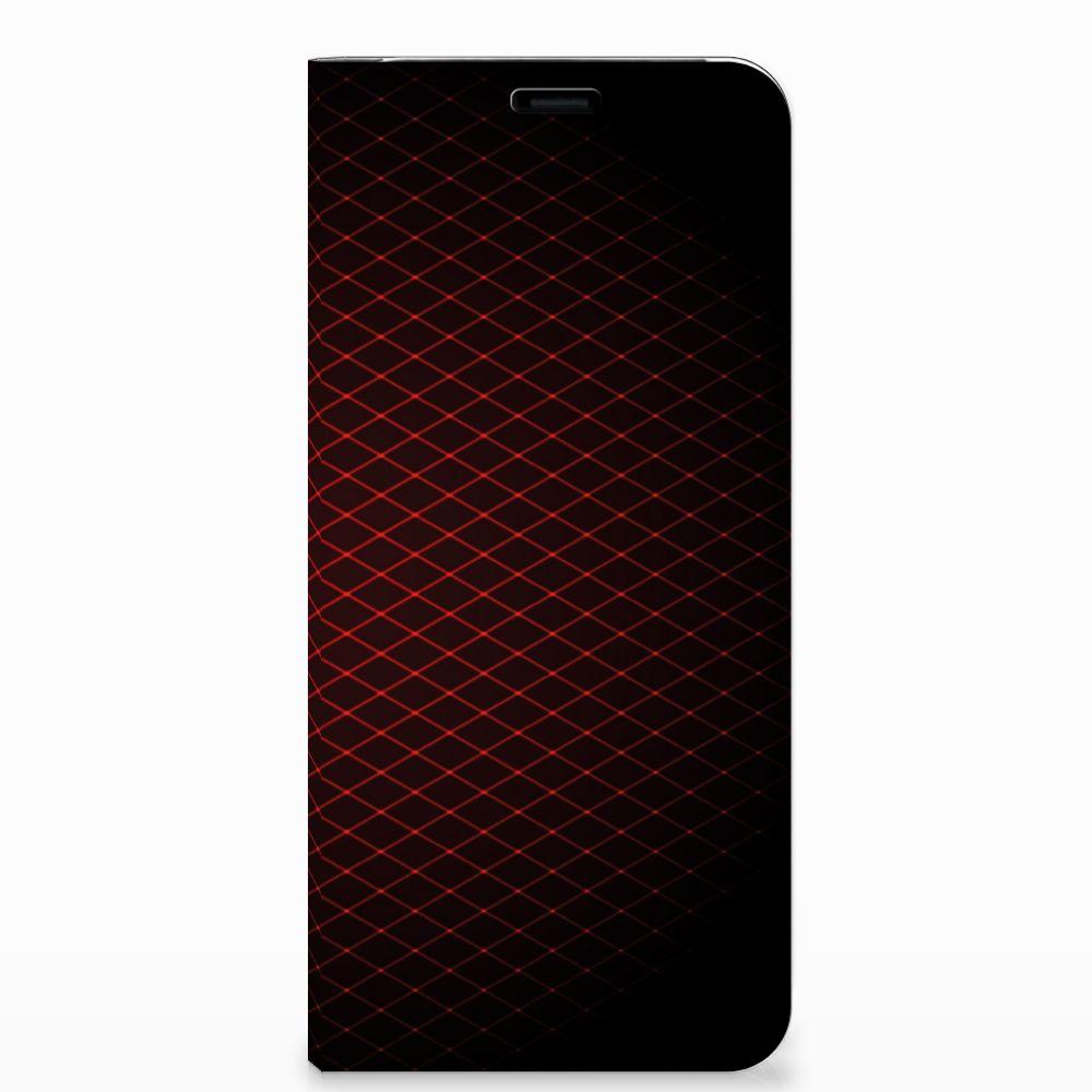 Samsung Galaxy S8 Plus Hoesje met Magneet Geruit Rood