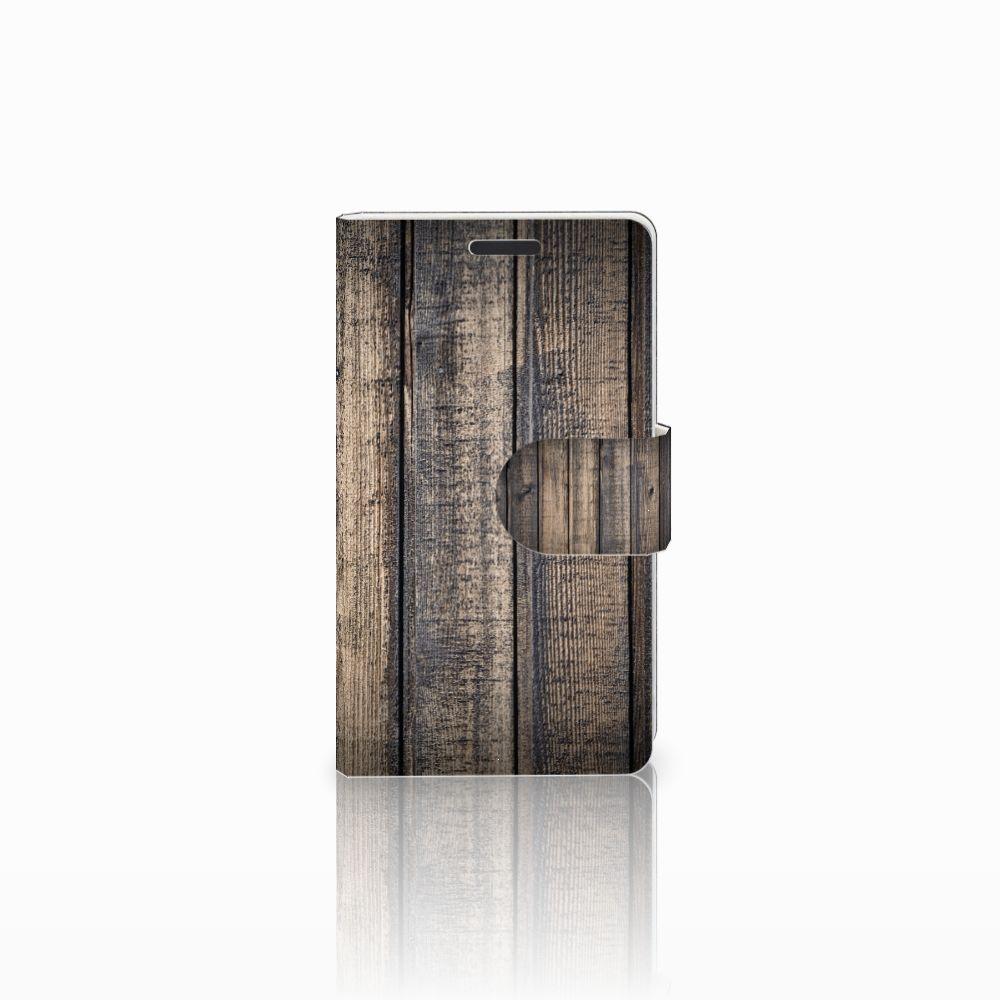Microsoft Lumia 435 Boekhoesje Design Steigerhout