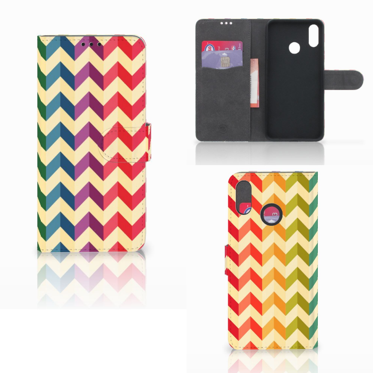 Huawei P Smart Plus Telefoon Hoesje Zigzag Multi Color