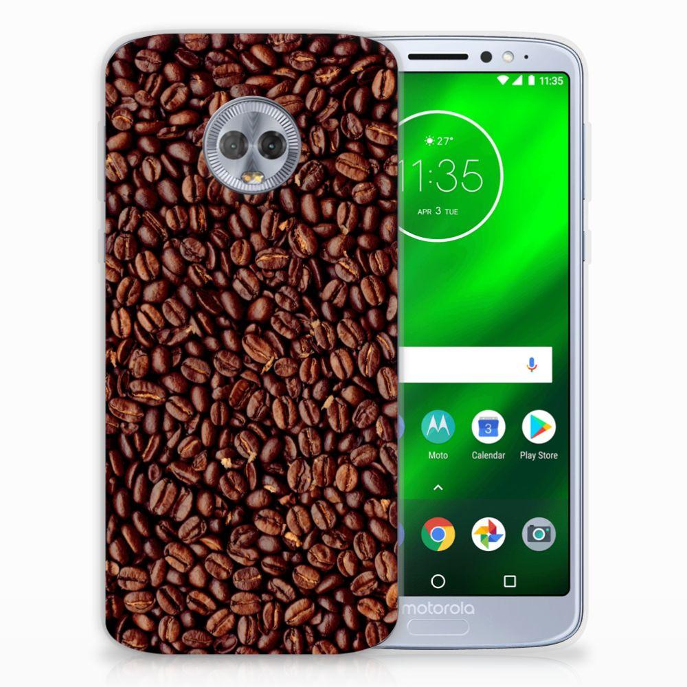 Motorola Moto G6 Plus Siliconen Case Koffiebonen