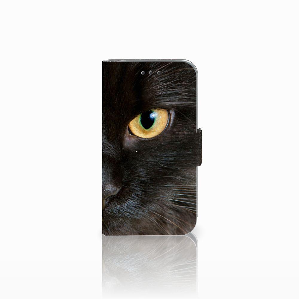 Samsung Galaxy Core Prime Telefoonhoesje met Pasjes Zwarte Kat