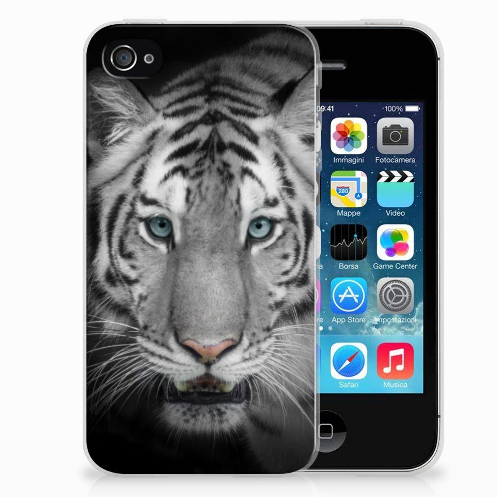 Apple iPhone 4 | 4s Uniek TPU Hoesje Tijger
