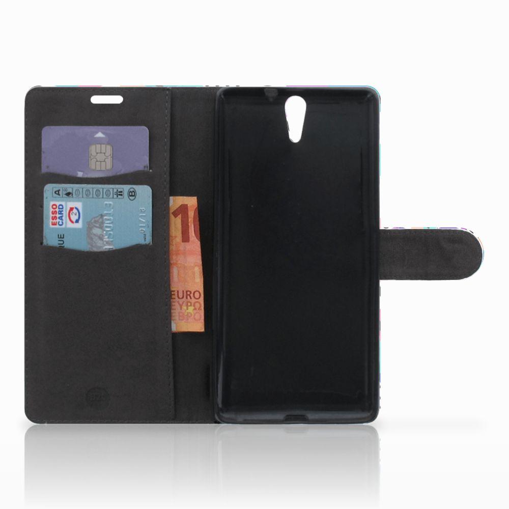 Sony Xperia C5 Ultra Bookcase Blokken Kleurrijk