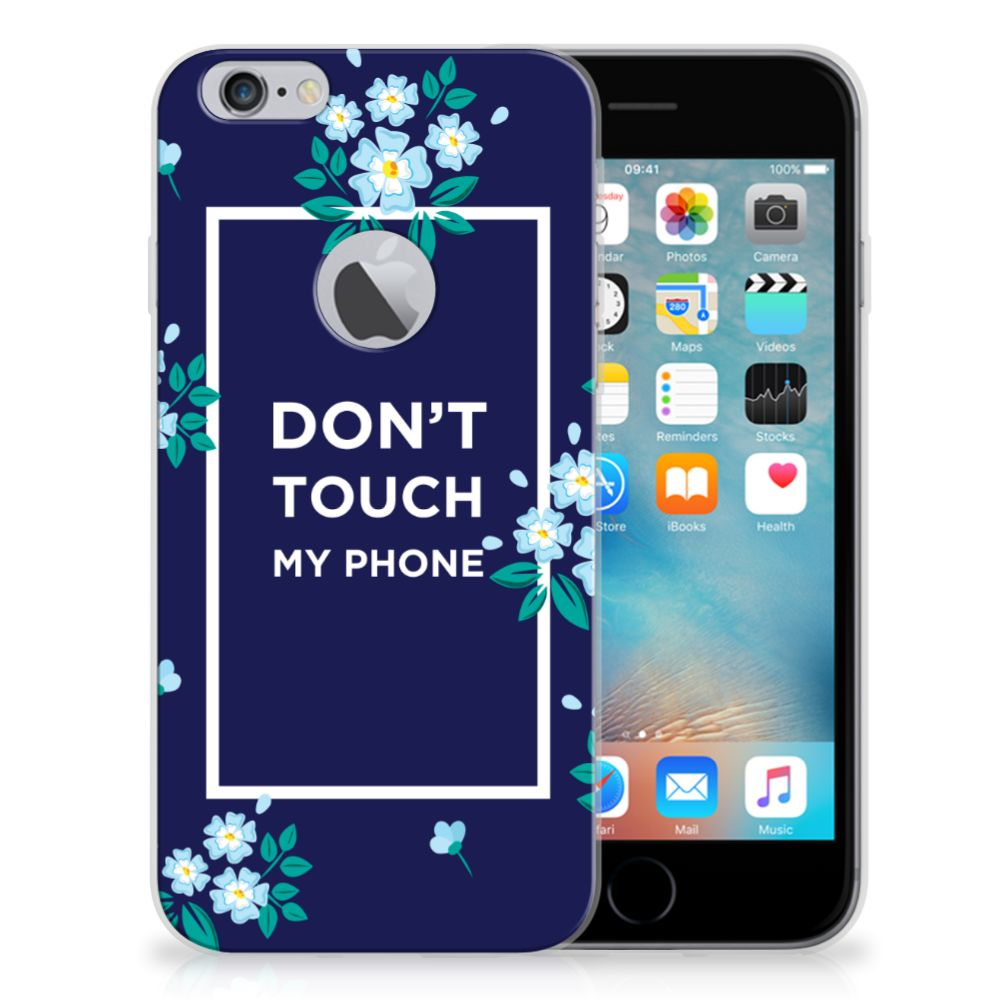 Apple iPhone 6 Plus | 6s Plus Silicone-hoesje Flowers Blue DTMP