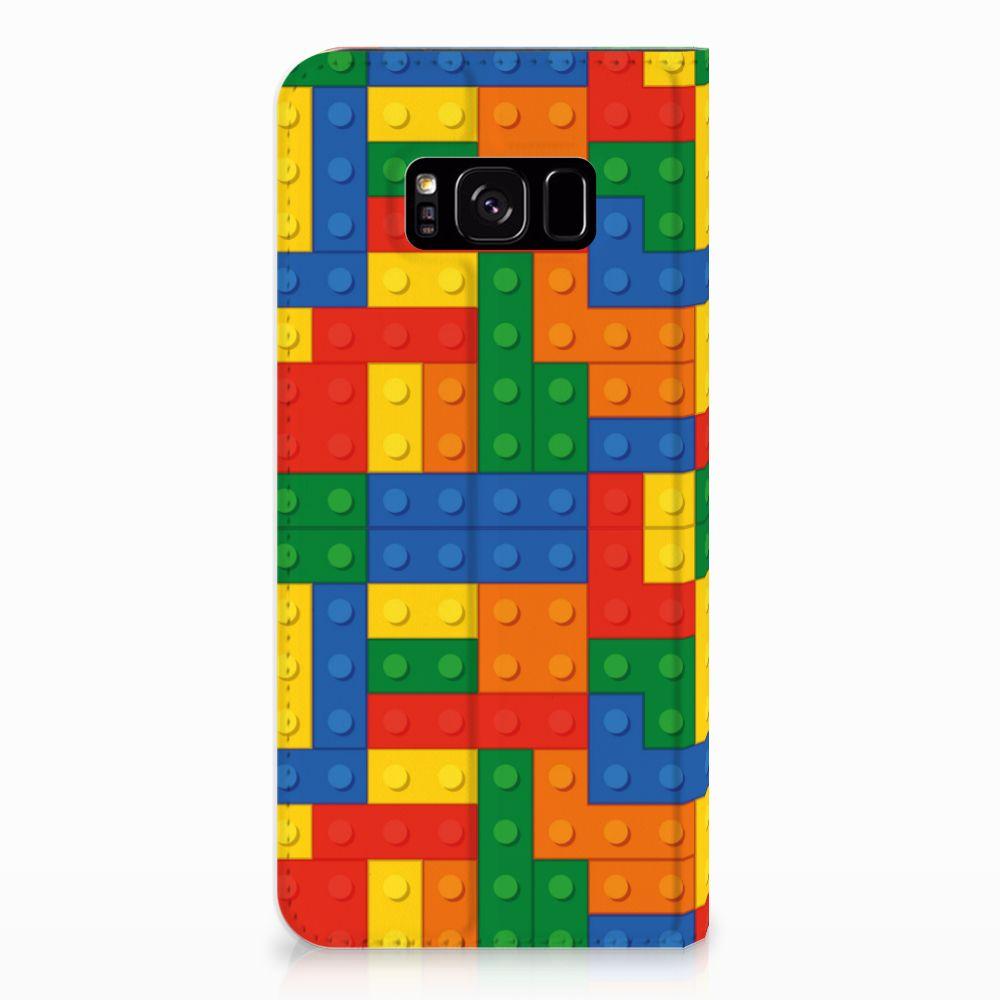 Samsung Galaxy S8 Plus Hoesje met Magneet Blokken