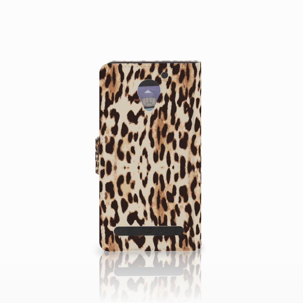 Lenovo C2 Power Telefoonhoesje met Pasjes Leopard
