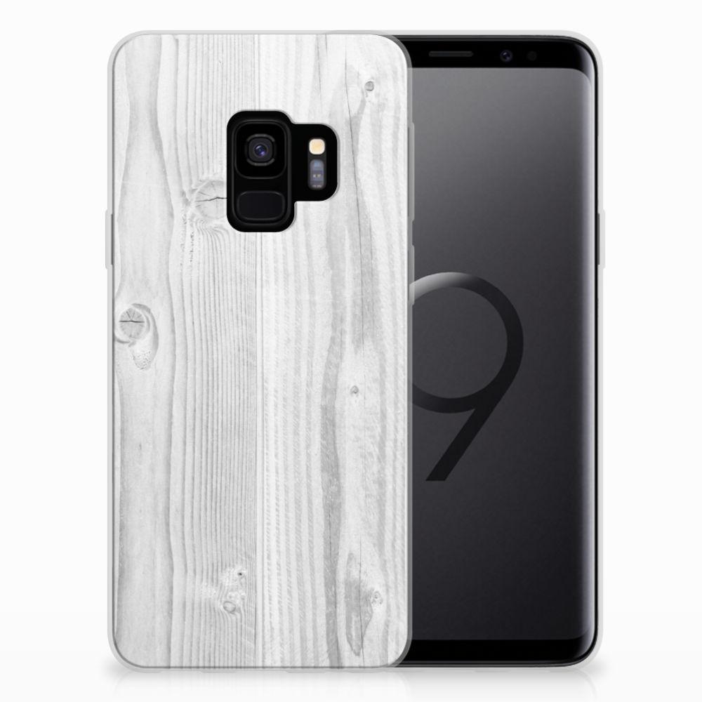 Samsung Galaxy S9 Bumper Hoesje White Wood