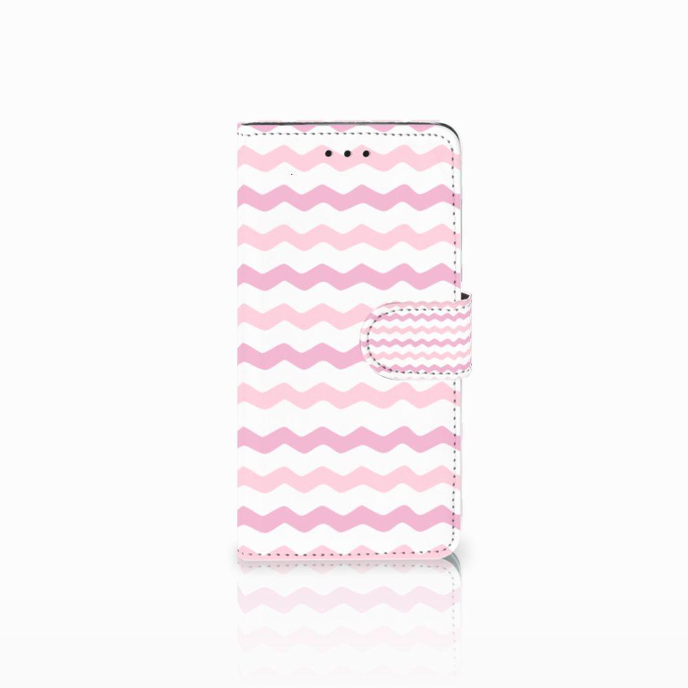 Huawei Y5 2018 Uniek Boekhoesje Waves Roze
