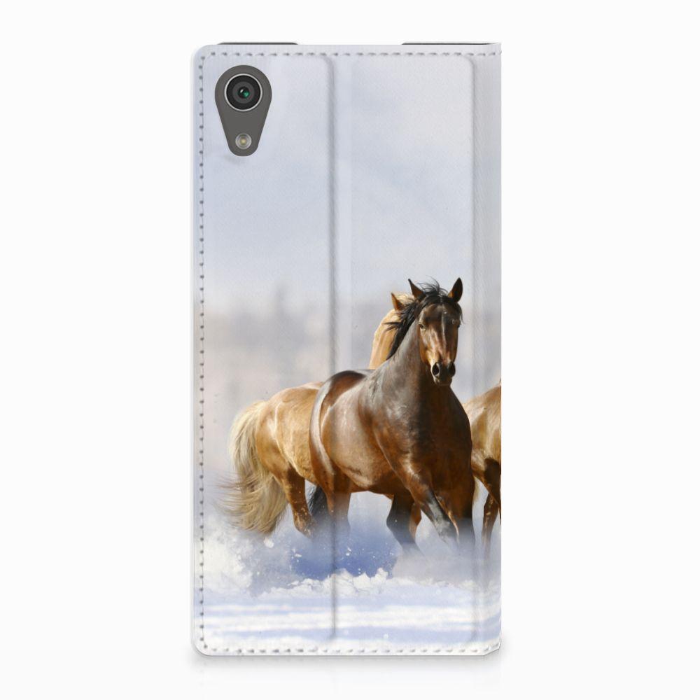Sony Xperia XA1 Uniek Standcase Hoesje Paarden