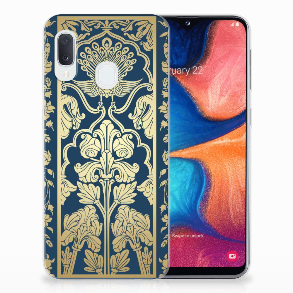 Samsung Galaxy A20e TPU Case Golden Flowers