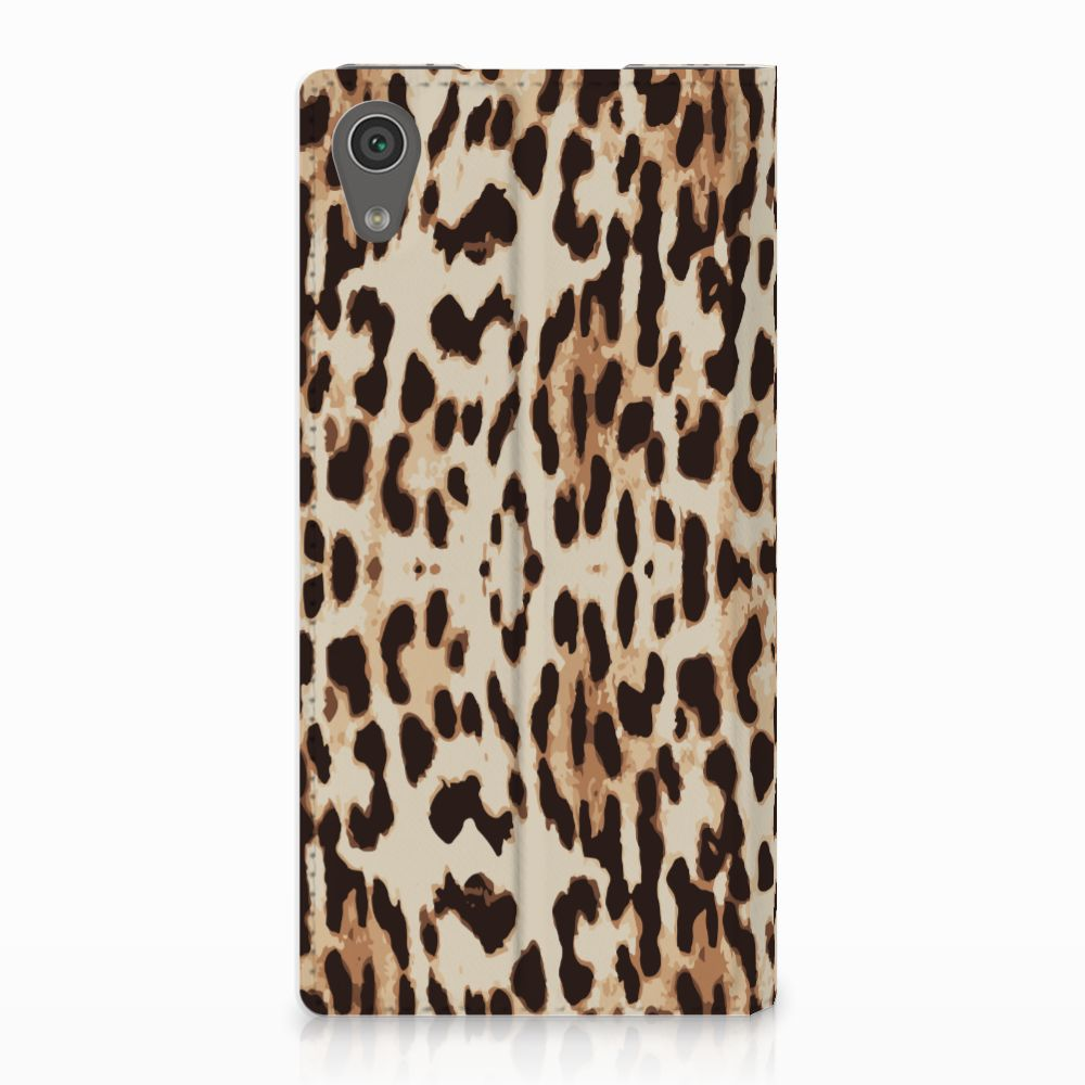 Sony Xperia XA1 Uniek Standcase Hoesje Leopard