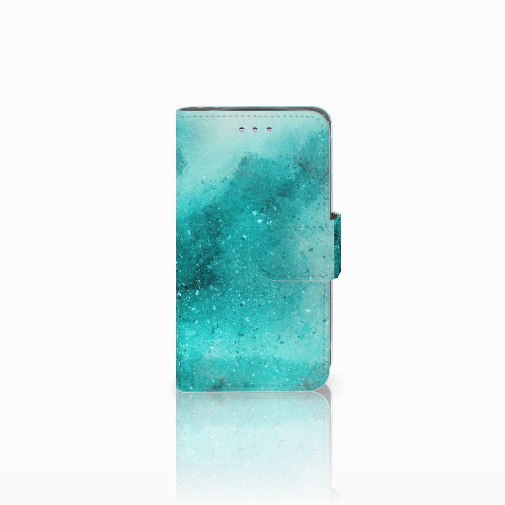 Samsung Galaxy S3 Mini Uniek Boekhoesje Painting Blue
