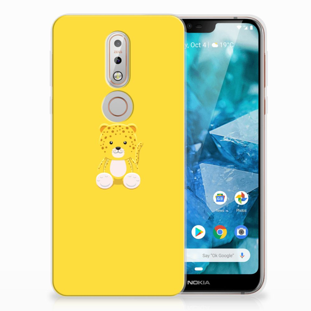 Nokia 7.1 Telefoonhoesje met Naam Baby Lepperd