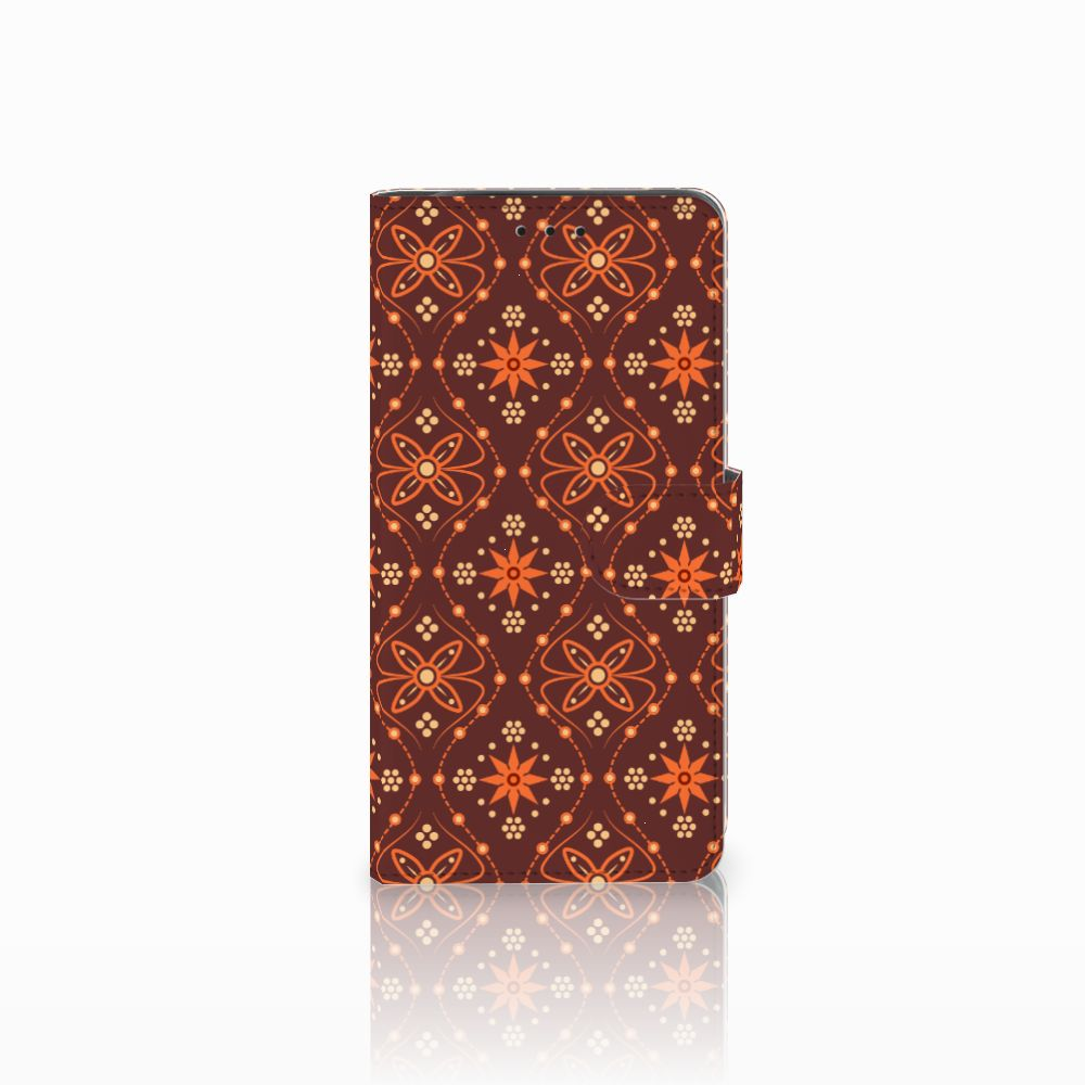Samsung Galaxy J6 Plus (2018) Telefoon Hoesje Batik Brown