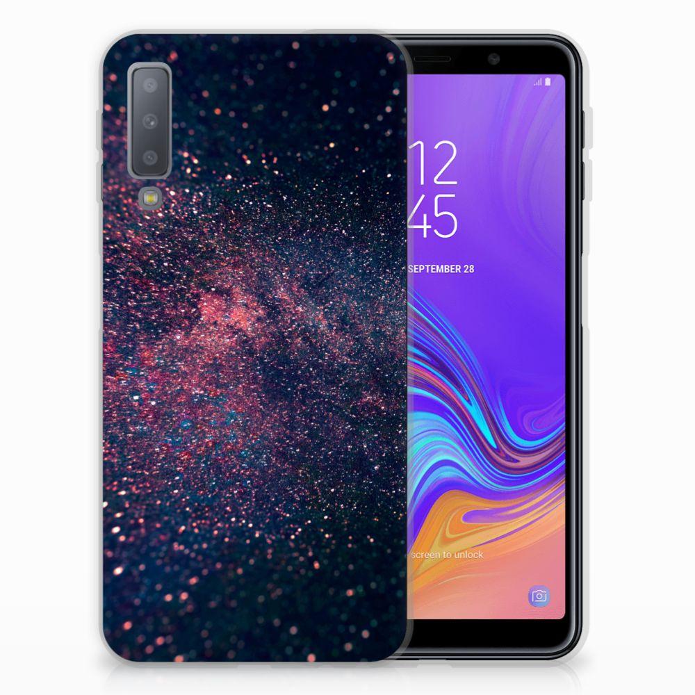 Samsung Galaxy A7 (2018) TPU Hoesje Stars