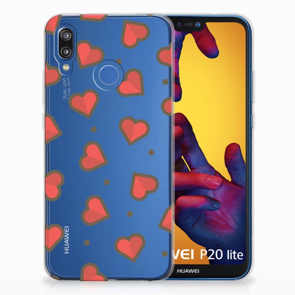 Huawei P20 Lite TPU bumper Hearts