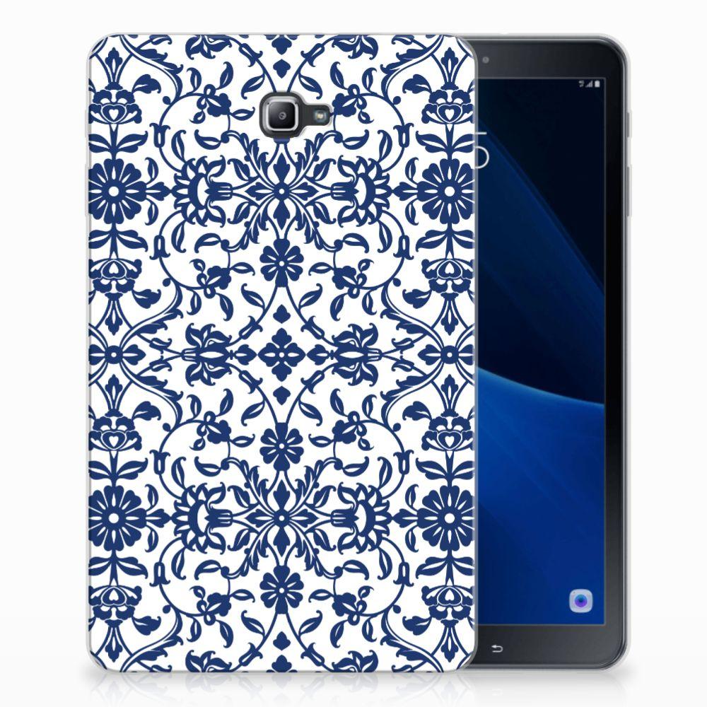 Samsung Galaxy Tab A 10.1 Tablethoesje Flower Blue