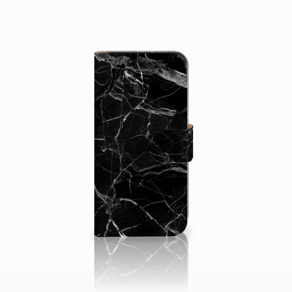 HTC One Mini 2 Uniek Boekhoesje Marmer Zwart