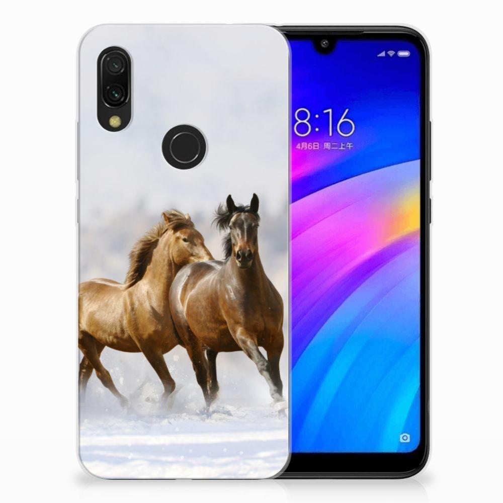 Xiaomi Redmi 7 Leuk Hoesje Paarden