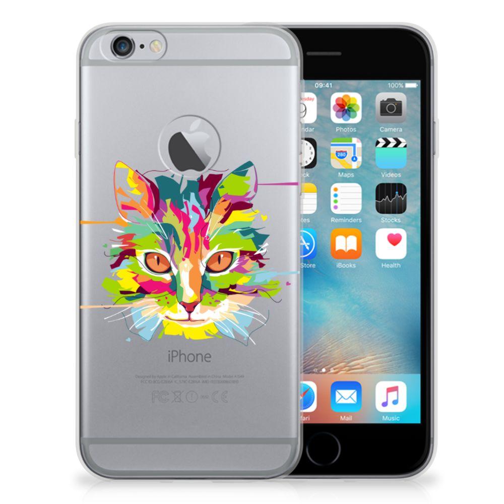 Apple iPhone 6 Plus | 6s Plus Telefoonhoesje met Naam Cat Color