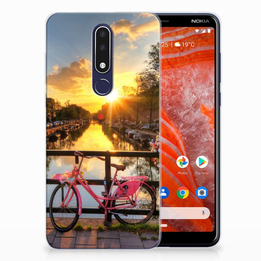 Nokia 3.1 Plus Uniek TPU Hoesje Amsterdamse Grachten