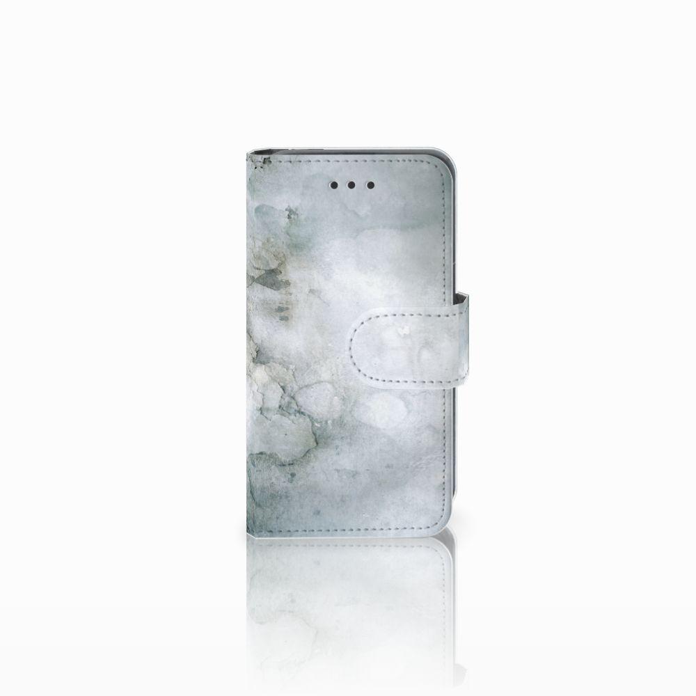 Nokia Lumia 530 Uniek Boekhoesje Painting Grey