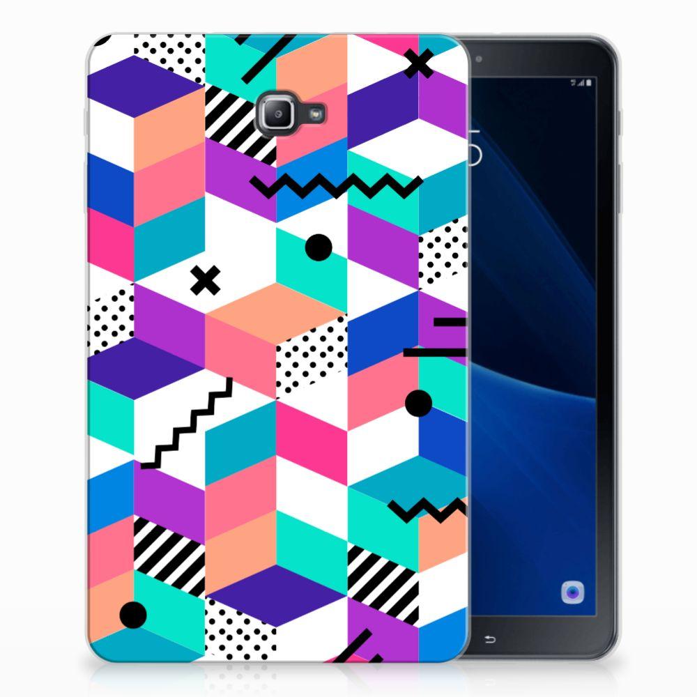 Samsung Galaxy Tab A 10.1 Back Cover Blokken Kleurrijk