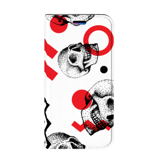 Apple iPhone X | Xs Standcase Hoesje Design Skull Red