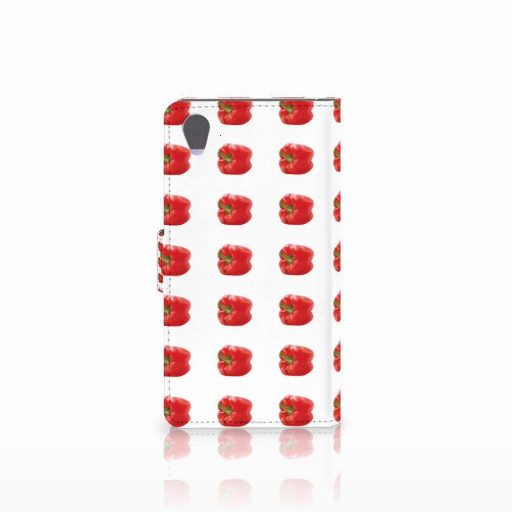 Sony Xperia Z1 Book Cover Paprika Red