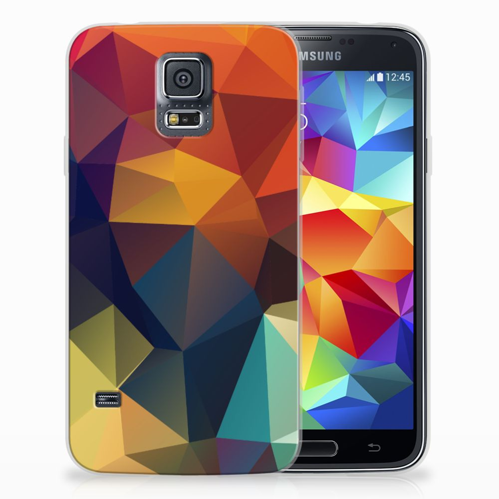 Samsung Galaxy S5 TPU Hoesje Polygon Color