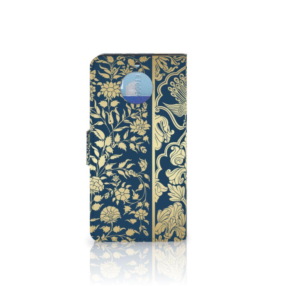 Moto G5S Hoesje Golden Flowers