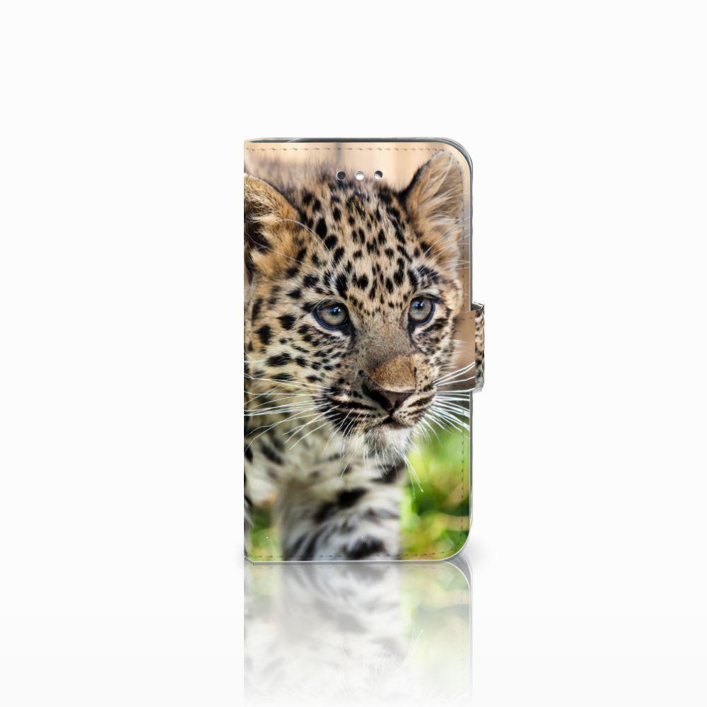 Samsung Galaxy S4 Telefoonhoesje met Pasjes Baby Luipaard