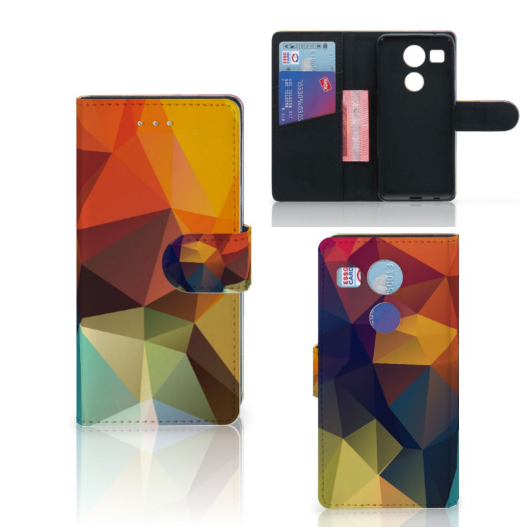 LG Nexus 5X Bookcase Polygon Color