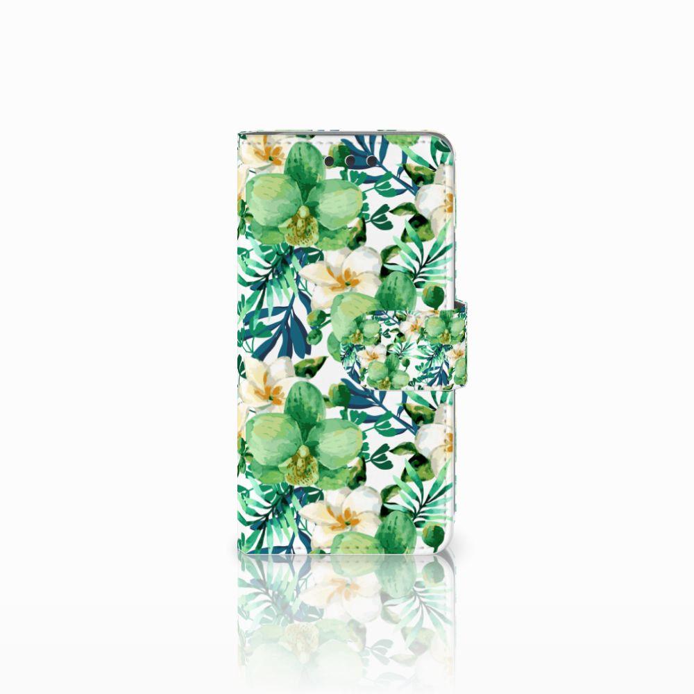 Samsung Galaxy A3 2016 Uniek Boekhoesje Orchidee Groen