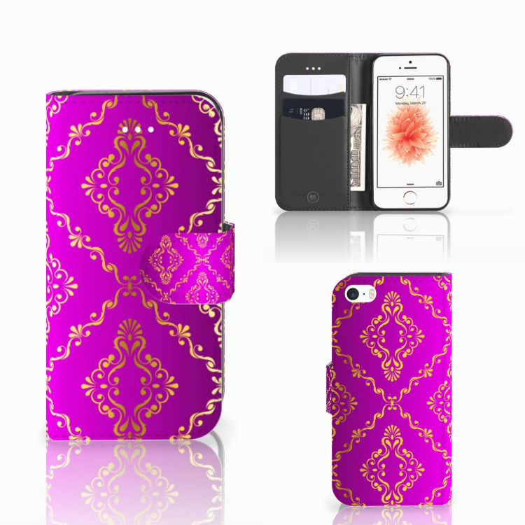 Wallet Case Apple iPhone 5 | 5s | SE Barok Roze