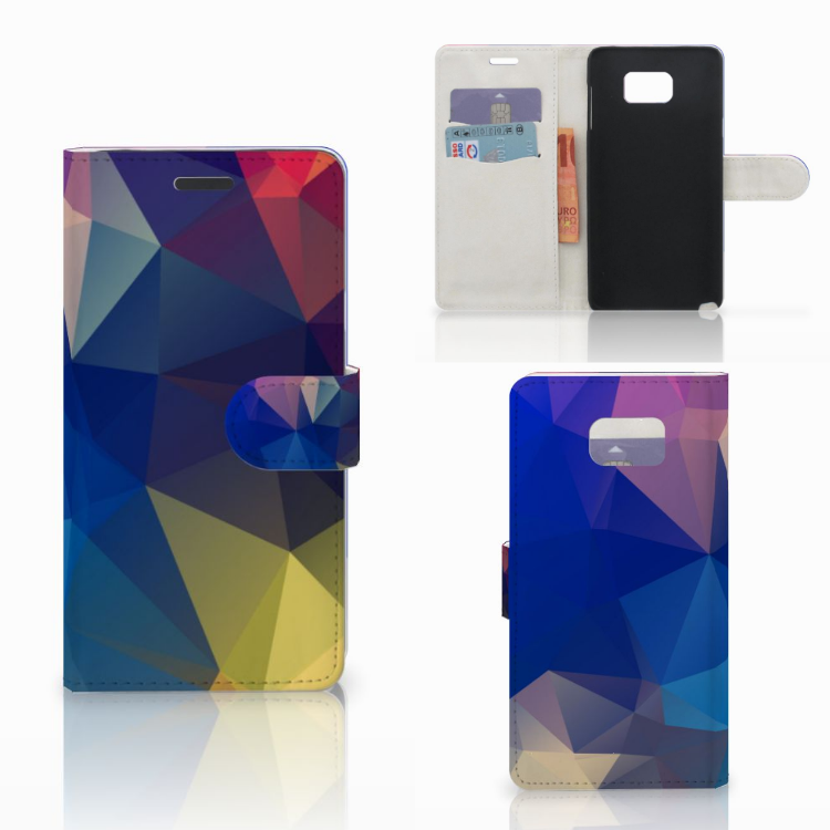 Samsung Galaxy Note 5 Bookcase Polygon Dark