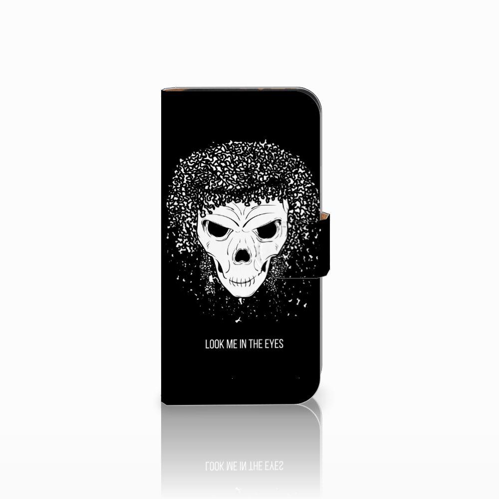 HTC One Mini 2 Uniek Boekhoesje Skull Hair