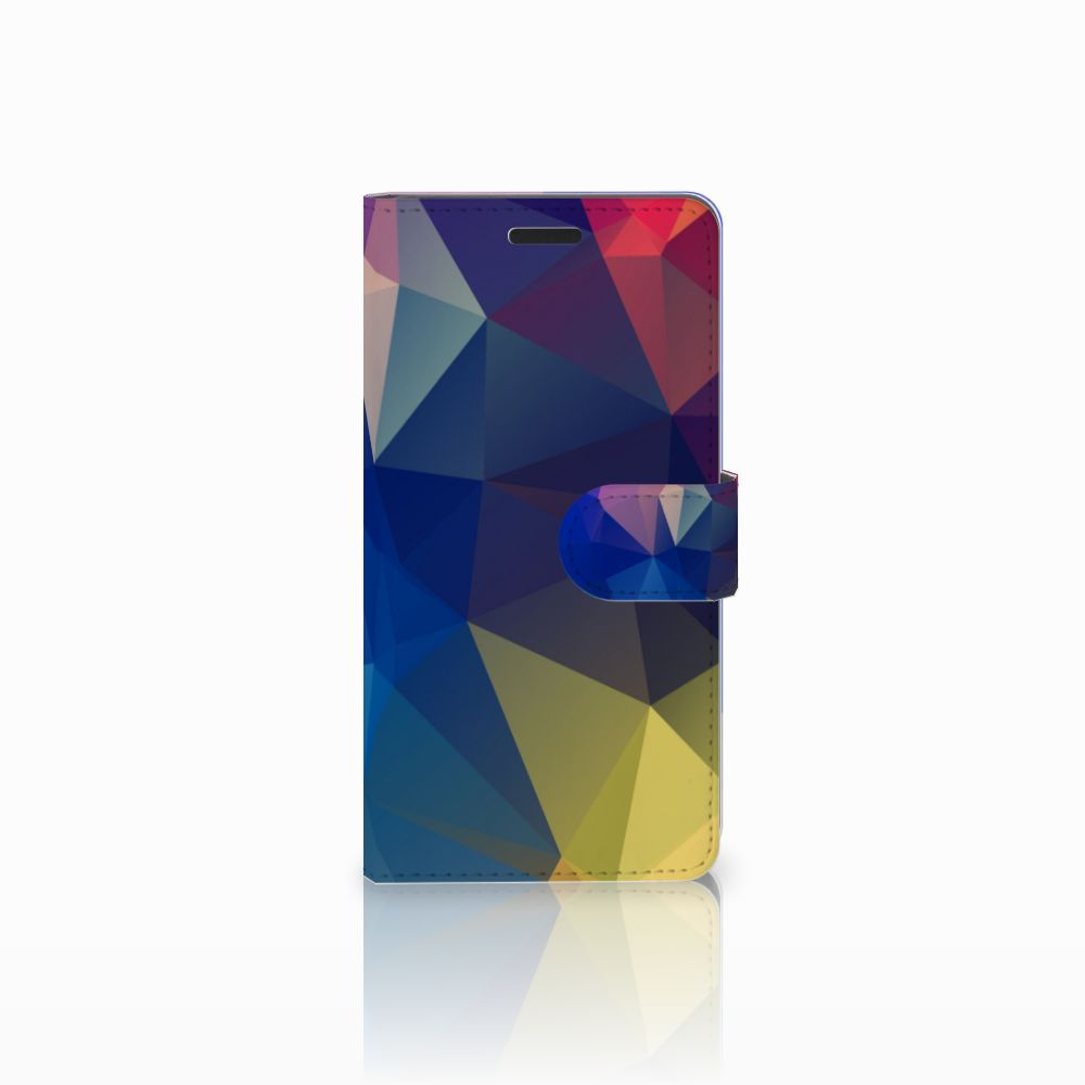 Samsung Galaxy A7 2015 Bookcase Polygon Dark