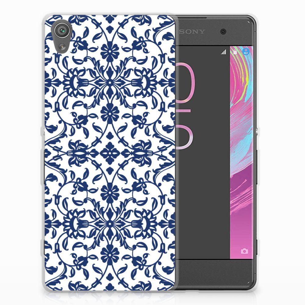 Sony Xperia XA | XA Dual TPU Hoesje Flower Blue