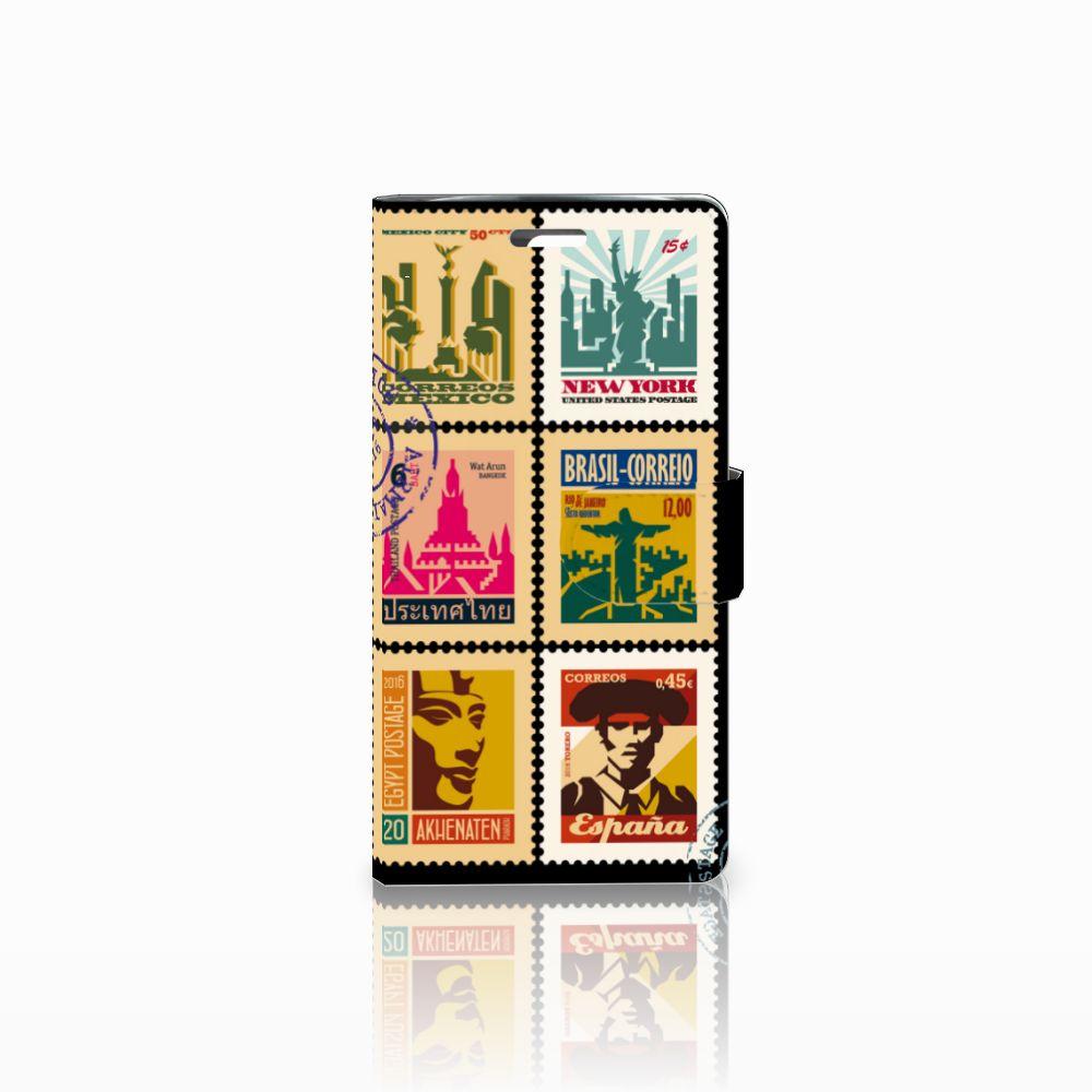 LG K10 2015 Uniek Boekhoesje Postzegels