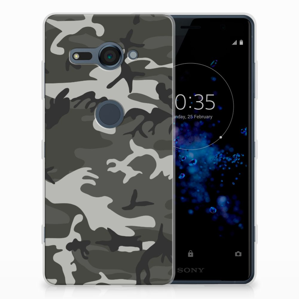 Sony Xperia XZ2 Compact Uniek TPU Hoesje Army Light
