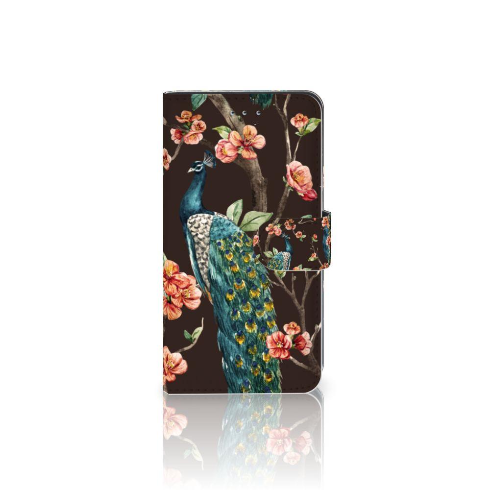 Samsung Galaxy J4 2018 Boekhoesje Design Pauw met Bloemen