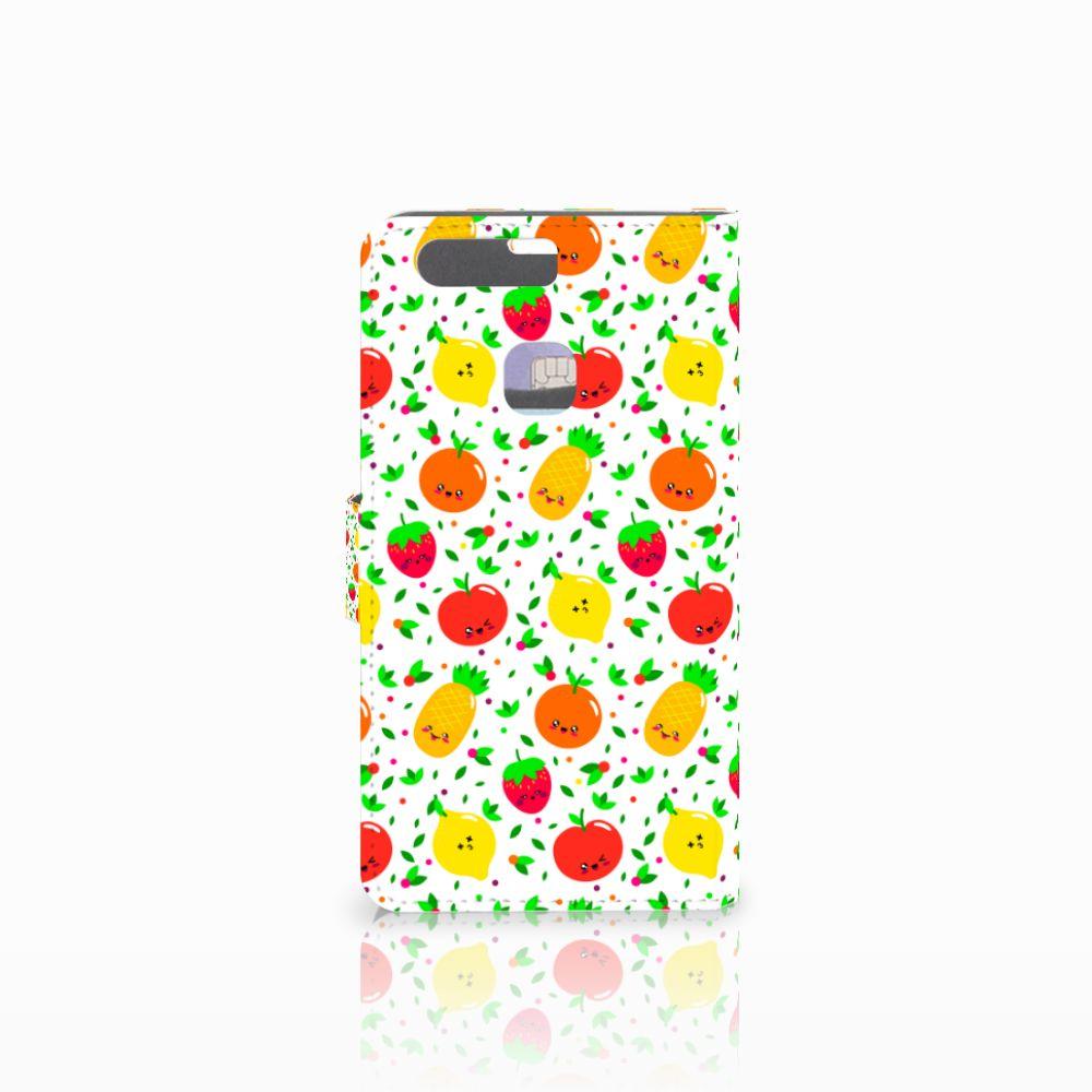Huawei P9 Plus Book Cover Fruits