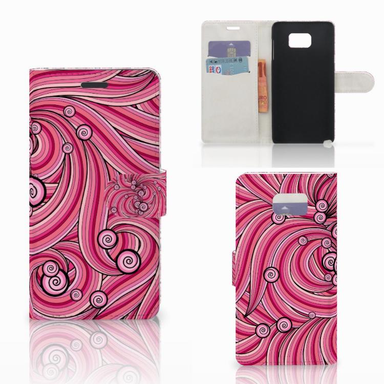 Samsung Galaxy Note 5 Hoesje Swirl Pink
