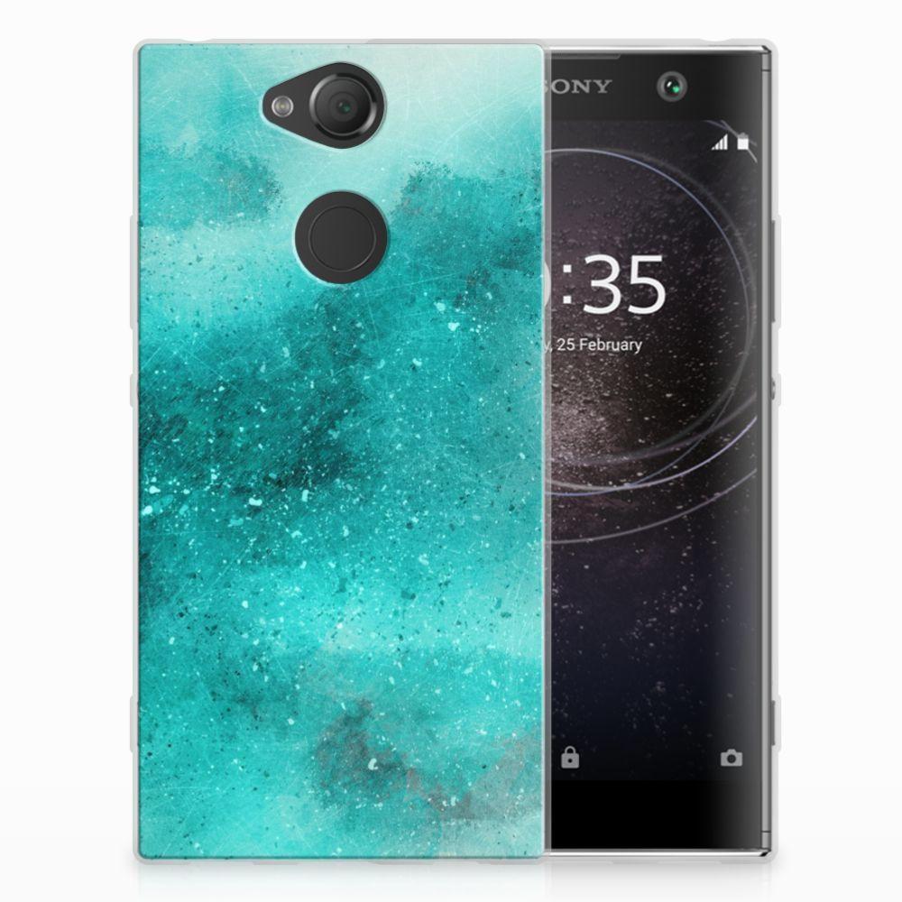 Hoesje maken Sony Xperia XA2 Painting Blue