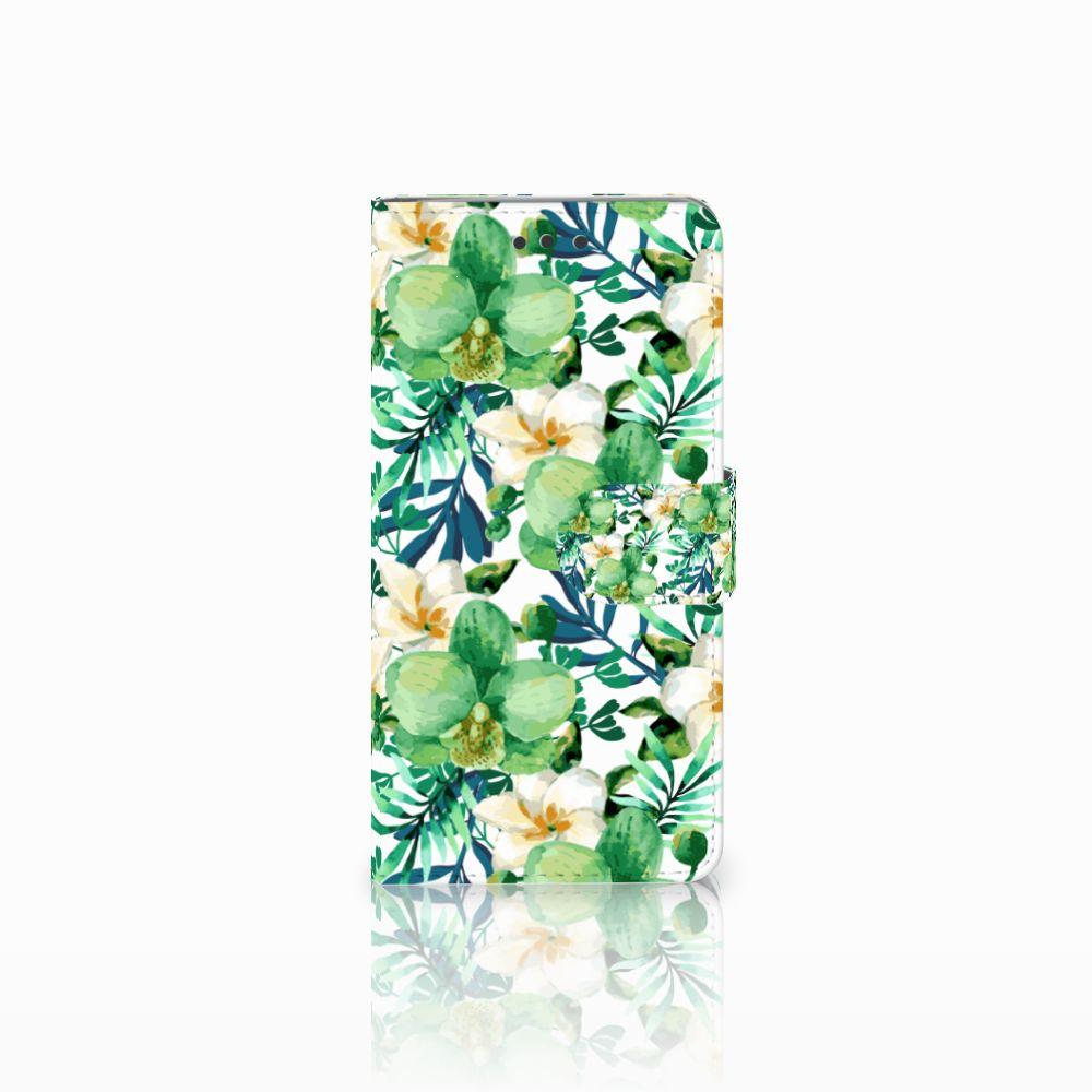 HTC U Play Uniek Boekhoesje Orchidee Groen