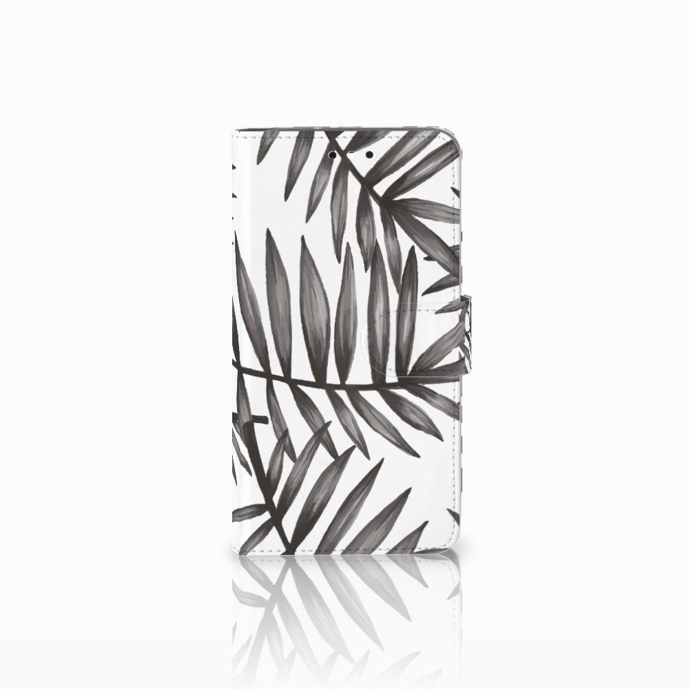 Motorola Moto G4 | G4 Plus Uniek Boekhoesje Leaves Grey